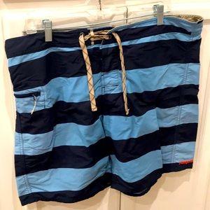 Patagonia Men's Blue Stripe Swim Trunks